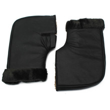 лучшая цена Motorcycle Handlebar Gloves PU Leather Waterproof Motorbike Scooter ATV Protective Winter Warmer 1Pair