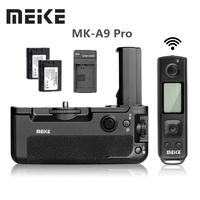 Meike MK A9 Pro 2.4 GHz Remote control Battery Grip Holder Original + 2x NP FZ100 battery for Sony A9 A7RIII A7III A7 III Camera