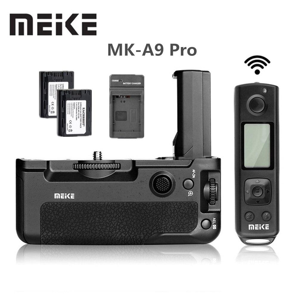 Meike MK-A9 Pro 2.4 GHz télécommande Batterie Holder Grip D'origine + 2x NP-FZ100 batterie pour Sony A9 A7RIII A7III A7 III caméra