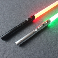Luke Wars черная серия световой меч Люка Скайуокера джедай синий Вейдер меч электронная игрушечная лампа может быть небольшим столкновением ве