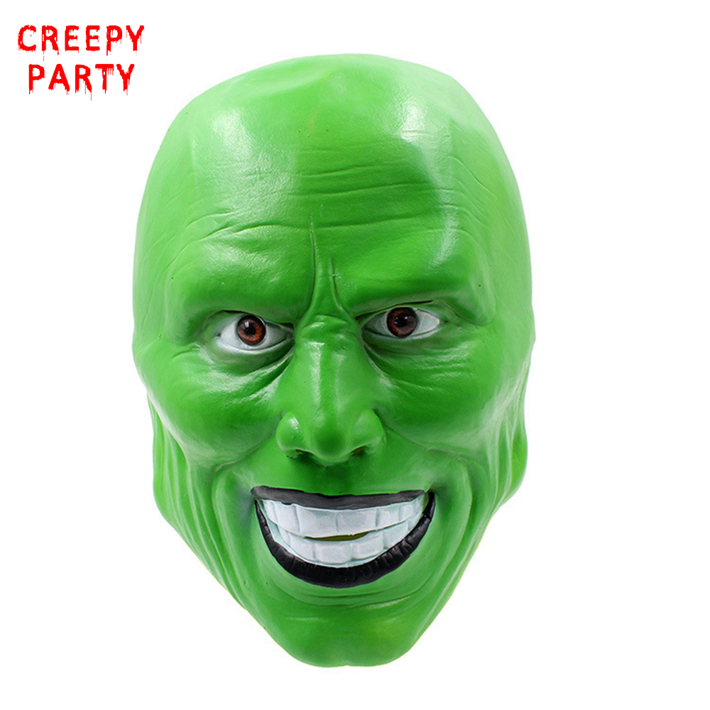 Scary Mask Jim Carrey Masks Halloween Adult Latex Mask Movie Cosplay Toy Props Party Fancy Dress image