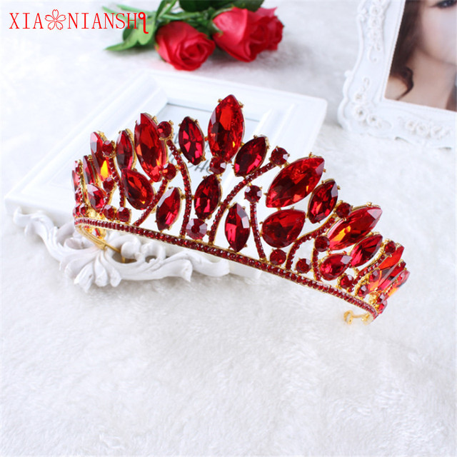 XIAONIANSHI New Designs royal queen crown rhinestone tiara head