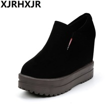 Women Shoes Fashion Hidden Heels Wedge Womens Causal Black Slip-on High
