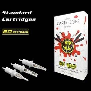 Image 1 - Oringinal BIG WASP Round Liner Cartridge Tattoo Needle White Tubes RL Needle PMU Supply