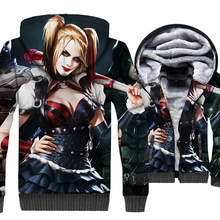 Batman 3D Wonder Woman Hoodies Suicide Squad Harley Quinn Sweatshirts Catwoman Coats Winter Fleece Injustice League Cool Jackets