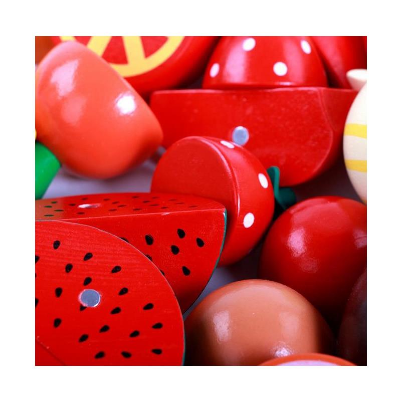 15 teile/satz Kinder Holz Schneiden Obst Gemüse Küche Spielzeug ...