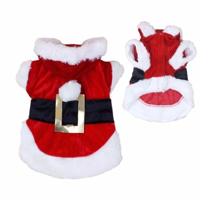 Christmas Dog Clothes for Dogs Chihuahua Winter Dog Christmas Costume Pet Clothes Warm Pet Cat Hoodie Coat Clothing 30A1 2