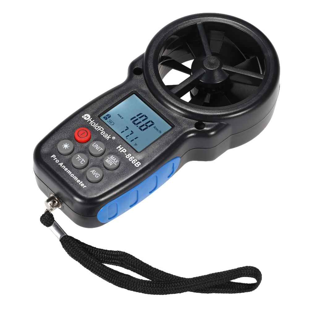 holdpeak hp 866b digital anemometer mini digital lcd wind speed meter temperature wind chill with backlight in speed measuring instruments from tools on  [ 1000 x 1000 Pixel ]