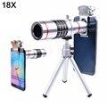 2017 Lentes de Telefoto Telescópio Lente com Zoom Óptico de 18x Lentes Tripé Móvel para xiaomi redmi 2 3 s 4 nota 3 huawei meizu htc