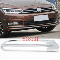 Car ABS Chrome front Fog Light Cover trim for VW Touran 2016