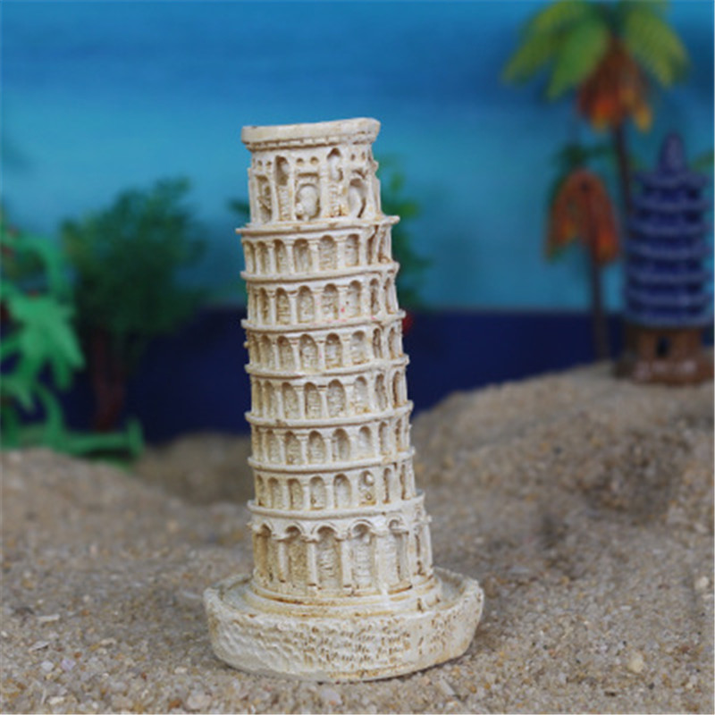 Earnest Wholesale 200pcs/lot Italy Leaning Tower Of Pisa Colophony Crafts Psychological Sand Table Accessories G1440 Soft And Antislippery Action & Toy Figures