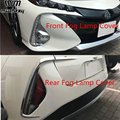 Для Toyota Prius Phv Автомобильная задняя противотуманная фара передняя противотуманная фара крышка Накладка противотуманная фара рамка Abs Хроми...
