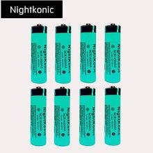 Original Nightkonic 8 pcs/lot 14500  Rechargeable Battery 3.7v Li-ion