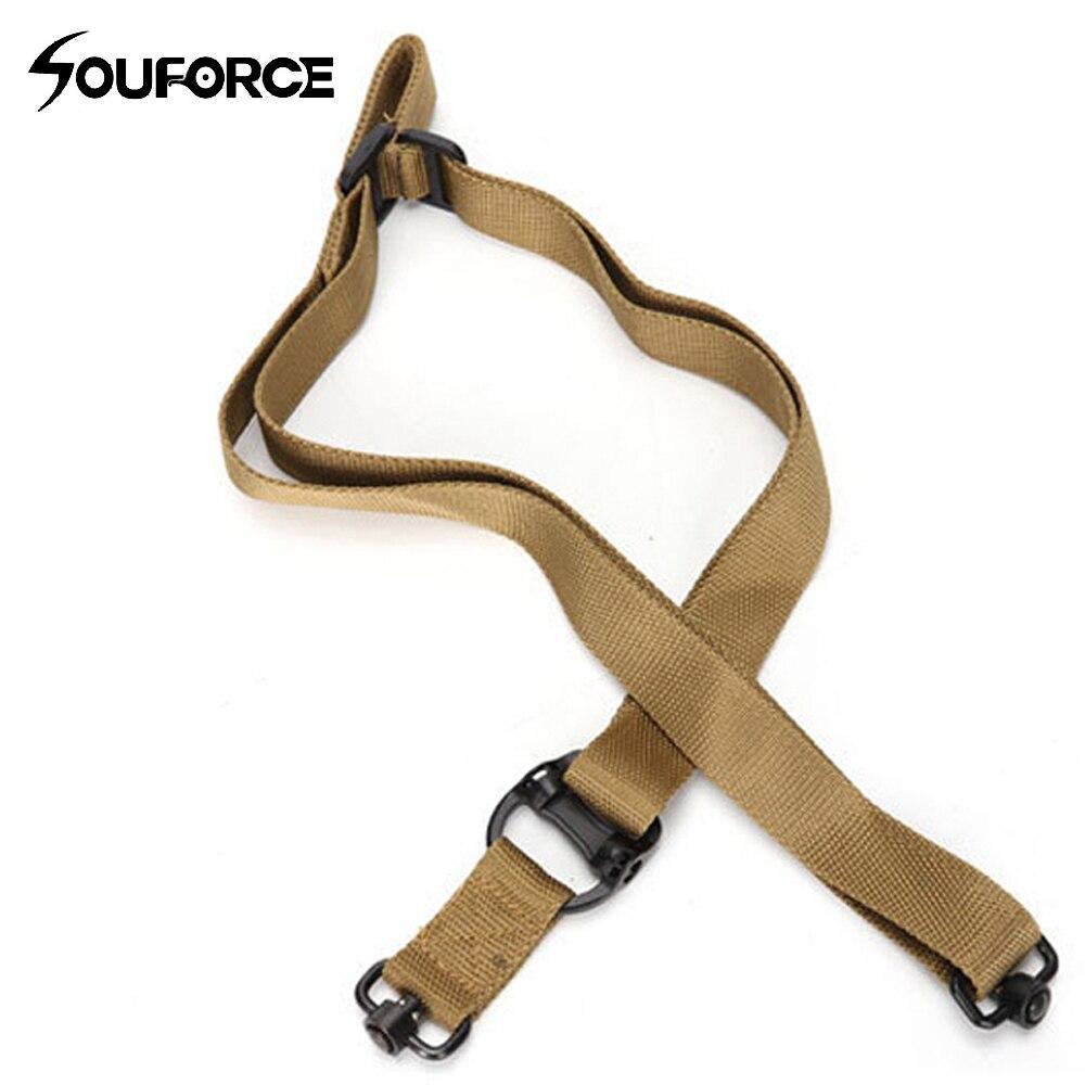 Taktische 2 Einzelnen Punkt Gun Sling Rifle Sling Bungee Strap Sicherheit Nylon Gürtel Seil mit Metall Haken für Jagd