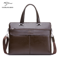 YUES KANGAROO Famous Brand Classic Soft Leather Men S Handbag Business Bag Bolsa Male Laptop Briefcase