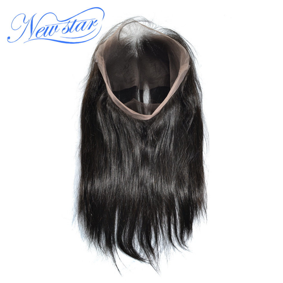 New Star Hair Pre Plucked 360 Lace Frontal Closures Brazilian Straight Hair Natural Hairline 10 20