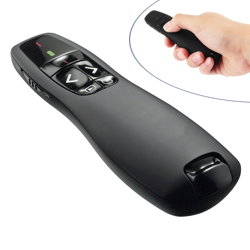 2.4Ghz USB RF Wireless Presenter Handheld Pointer PPT Remote Control with Red Laser Pointer Pen for Power Point Presentation smartpointer usb rf presenter with red laser pointer
