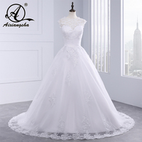 Robe De Mariee Vestido De Noiva Romantic Organza and Tulle A Line Wedding Dress Sexy Sleeveless Appliques Bride Gown Long