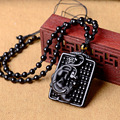 Open counters wholesale supply natural Obsidian Pendant Necklace Jewelry wishful abacus brave men and women
