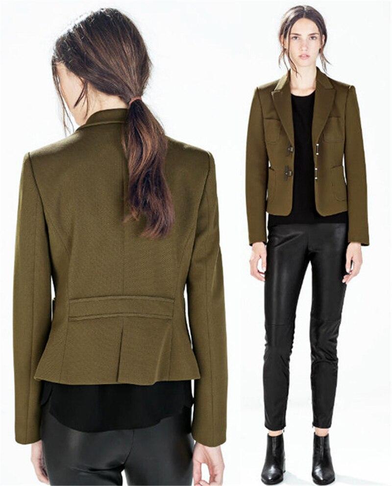 Mujeres chaquetas de primavera 2015 para mujer militar