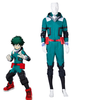 Anime My Hero Academia Izuku Midoriya Cosplay Costumes Boku no Hero Academia Deku Batting Suit Halloween Uniforms Custom Made