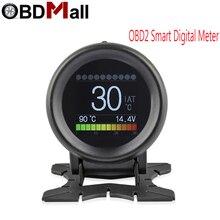 New A205 Multi Function Car OBD2 Smart Digital Meter Alarm Water Temperature Gauge Digital Voltage Speed Meter Display scanner