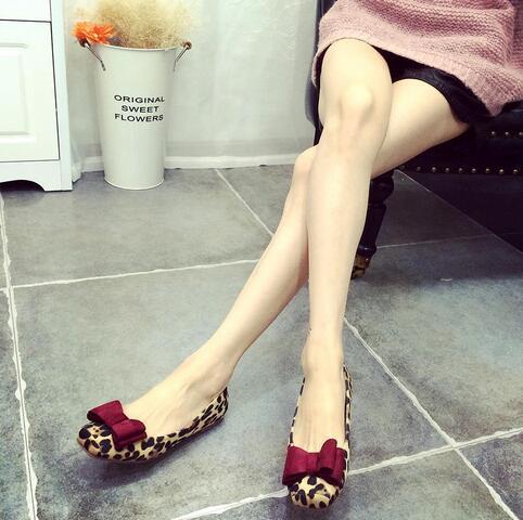 50c2d31b1 Grande Tamanho 41 Sapatos Baixos Leopardo Mulheres Camurça Cabeça Quadrada  Sapatos baixos Primavera E No Outono Arco Ballet Flats Mulheres Chaussure  Femmal ...