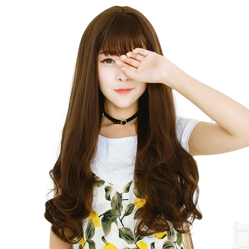 Women Long Curly Cosplay Wig Heat Resistant Fiber Natural Synthetic Hair Full Head Wigs Ombre Party For Black Women AOSIWIG