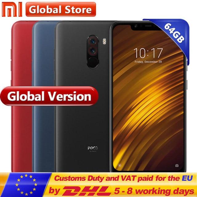 "Global Version Xiaomi POCOPHONE F1 6GB 64GB POCO F1 Snapdragon 845 4000mAh Dual Camera  6.18"" Full Screen Smartphone"
