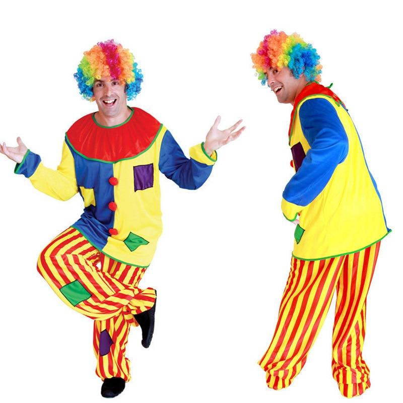 Halloween Cosplay Costumes Clown Clothes Sets Masquerade Party Adult Funny Joker аксессуары для косплея cosplay