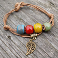 New Arrival The Chinese Elements Ethnic Fashion Color Beads Ceramic Bracelets For Women Gifts Jewelry
