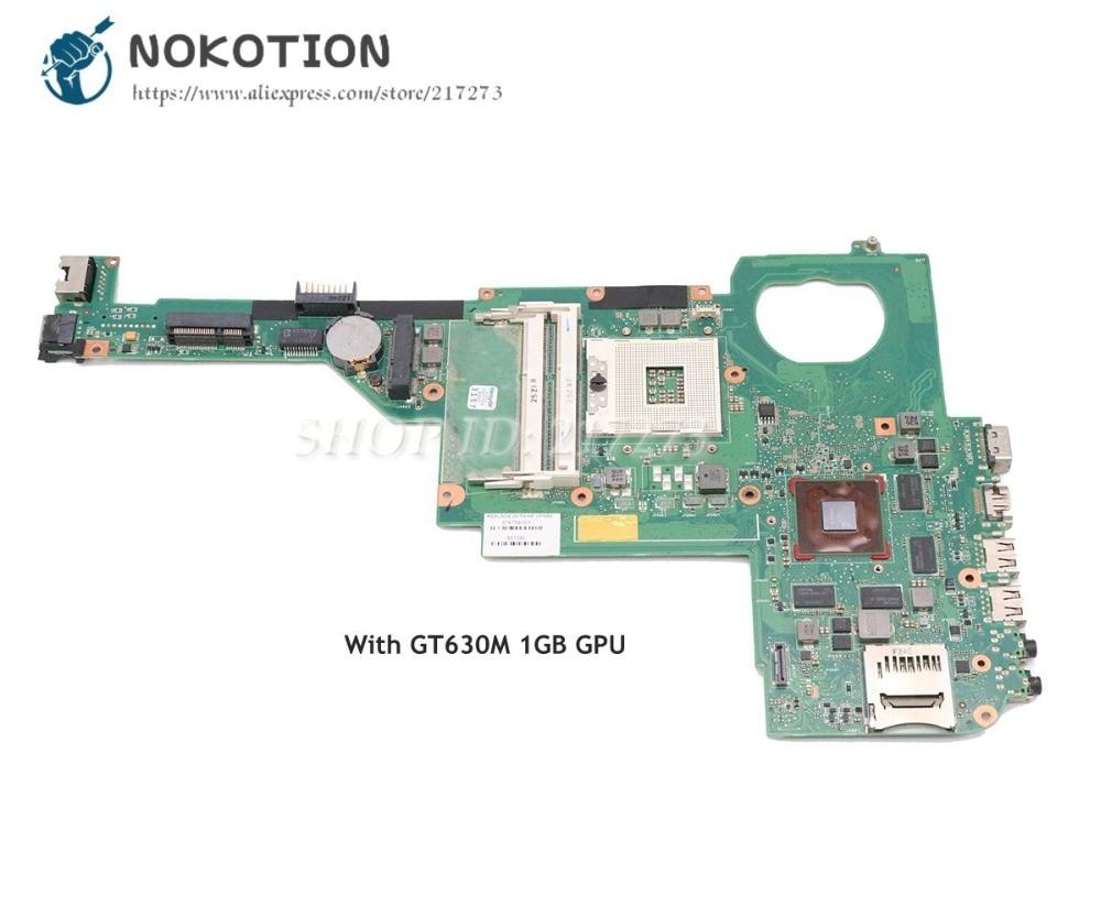 NOKOTION For HP Pavilion DV4 DV4-5000 Laptop Motherboard SLJ8C HM76 Chipest GT630M 1GB GPU 676759-501 676759-001 nokotion 486724 001 la 4101p laptop motherboard for hp dv4 dv4t dv4 1000 dv4t 1100 ddr2 gm45 mainboard