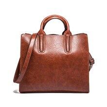 Leather Handbags Big Women Bag High Quality Casual Female Bags BrownTrunk Tote Spanish Brand Shoulder Bag Ladies Large Bolsos