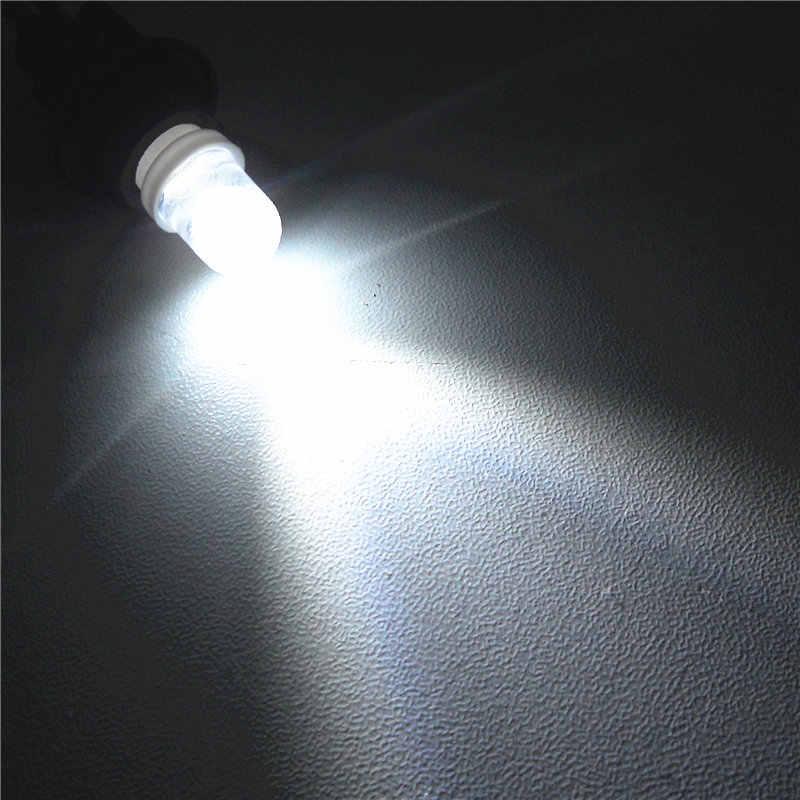 12 V Beyaz Renk LED araba ampulü Lamba T10 (10mm Spot Lamba) w5W W2.1X9.5d Kapı Gövde Boot Lisans Okuma Işığı