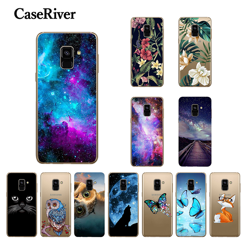 "5.6"" FOR Coque Samsung A8 2018 Case Cover Phone A8 2018 Soft Silicone Back 6.0"" FOR Capa Samsung Galaxy A8 Plus 2018 Case"