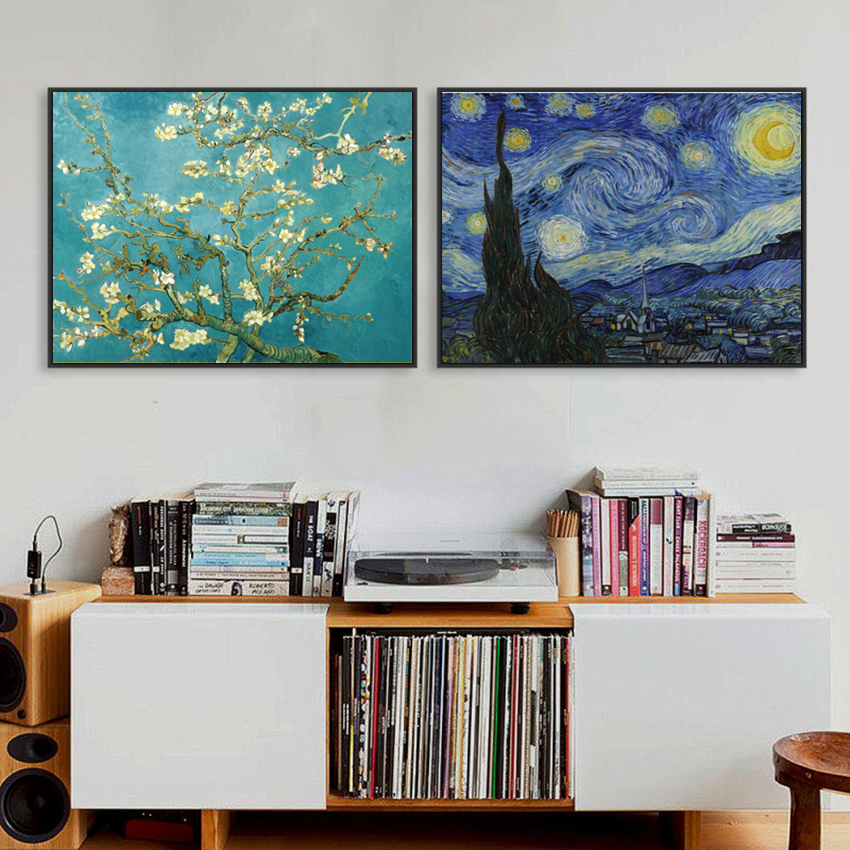 Abstrakt oljemålning Canvas HD-tryck Berömda Van Gogh Monet Landskapmålningar Wall Art Picture Living Room Decor