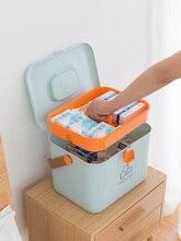 Портативный комплект бытовой ребенок большой аптечка многослойная Портативный Пластик медицинский случай наркотиков Коробка для хранения