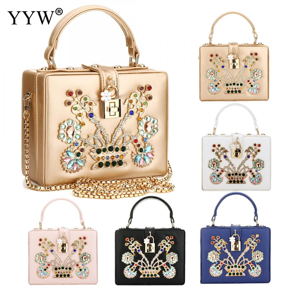 Luxury Women Bags Gold Evening Party Bag for Female Tote Bag with Diamonds Lady's PU Leather Handbag Famous Brand Crossbody Bag luxury women bags designer gold evening party bag for female clutch bag lady s pu leather handbag famous brand crossbody bag