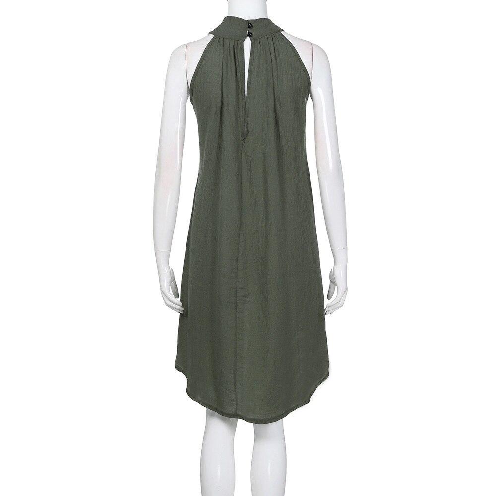 HTB1mJCjatjvK1RjSspiq6AEqXXaY Womens Holiday Irregular Dress Ladies Summer Beach Sleeveless Party Dress vestidos verano 2018 New Arrival dresses for women