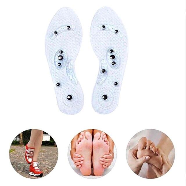 Semelles de santé Massage de Relaxation coussin de chaussure bleu Transparent aimant thérapie Fatigue enlever élastique confort soins de santé