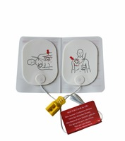 50 Pairs/Pack AED Trainer Conductive Pads With Wire For Adult First Aid HeartStart Trainer Patches AED Electrode Pads