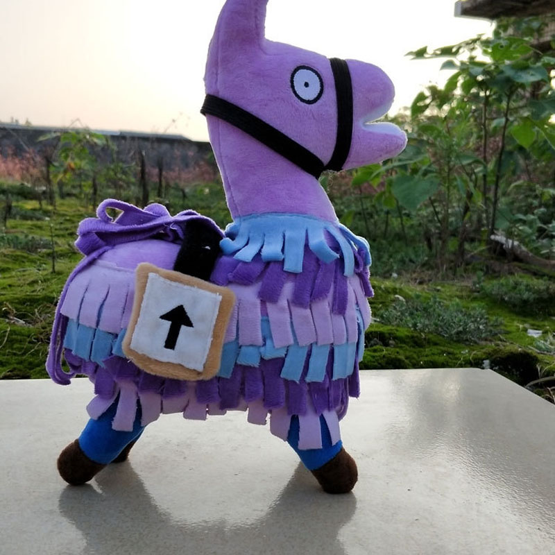 Fortnight Night Game Fortnite Doll Doll Grass Mud Horse Alpaca Plush Doll Model Rainbow Horse Alpaca ...