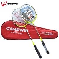 1 Pair Carbon Aluminum Professional Badminton Racket With Bag CAMEWIN Brand High Quality Badminton Racquet Green