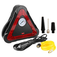 Air Compressor Pump,Auto Tire Inflator,500LM LED Light,Triangle Warning Sign 12V 150 PSI Tire Pump for Car Truck Bicycle