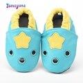 Малыша Девушки Звезда Отверстие Prewalkers Детская Обувь Из Натуральной кожи Первые Ходунки Дети Мелкой Скольжения на Мягкой Подошвой Обувь мокасины