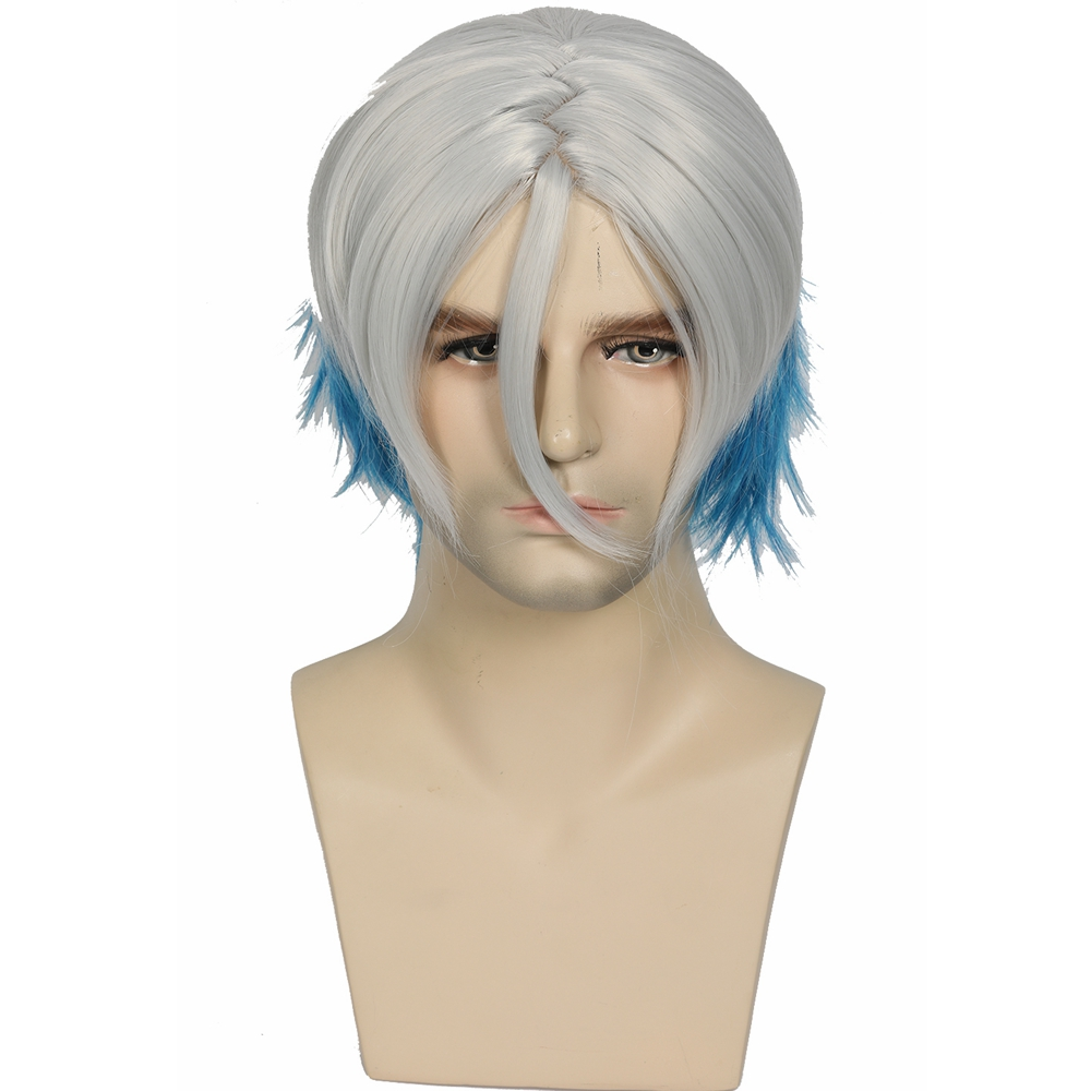 Expressive X-costume Movie Ready Player One Parzival Hair Cosplay Props Stylish Blue White Stitching Synthetic Wigs Cosplay Accessory Big Clearance Sale