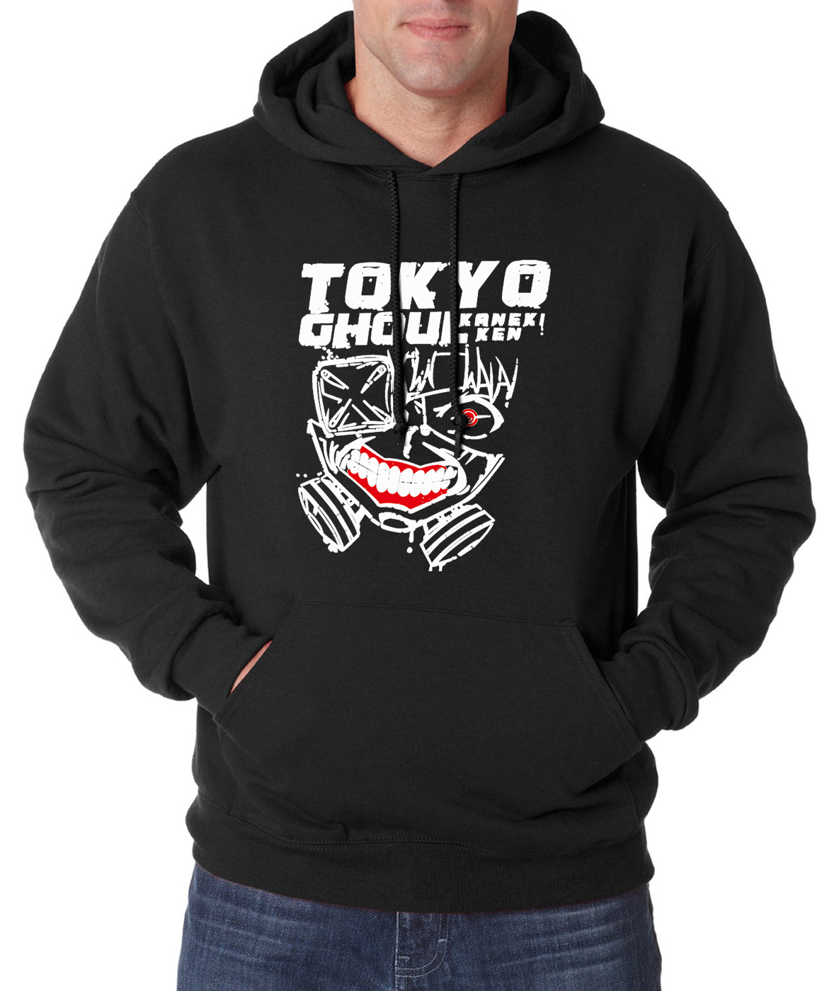 Anime Tokyo Ghoul Kaneki Ken Fashion Men Hoodies 2019 New Autumn Men Sweatshirts Fleece Hoodie Men Harajuku Men's Tracksuit