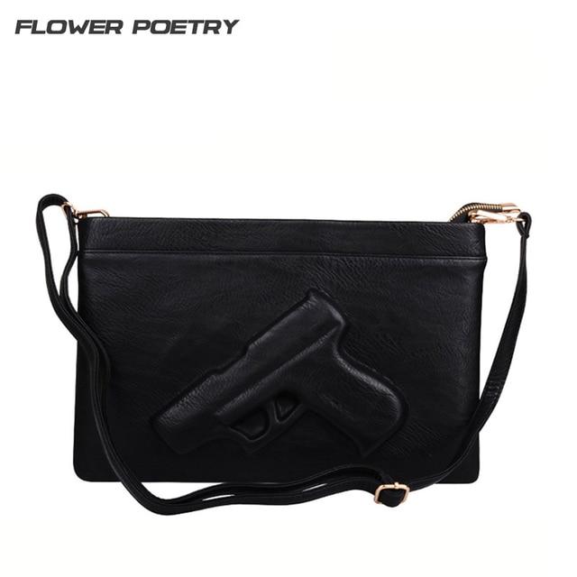 Print Gun Bag Women Designer Clutch Purse Famous Brand Messenger Bags Las Envelope