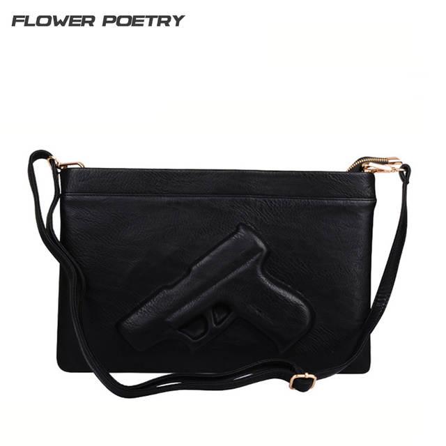 3D Print Gun Bag women bag Designer clutch purse famous brand women messenger  bags ladies Envelope