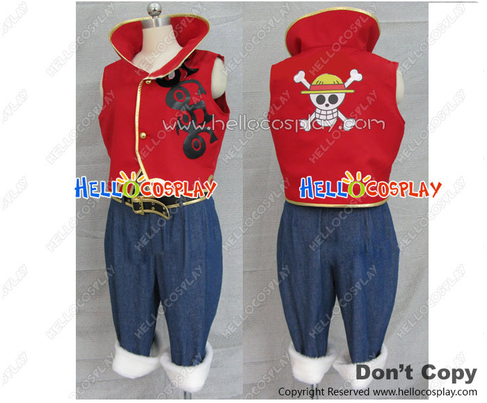 One Piece Strong World Monkey D Luffy Cospaly Costume H008